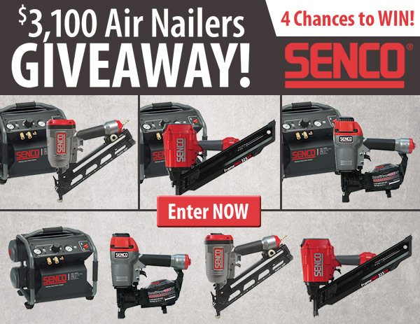 $3,100 Air Nailers Giveaway